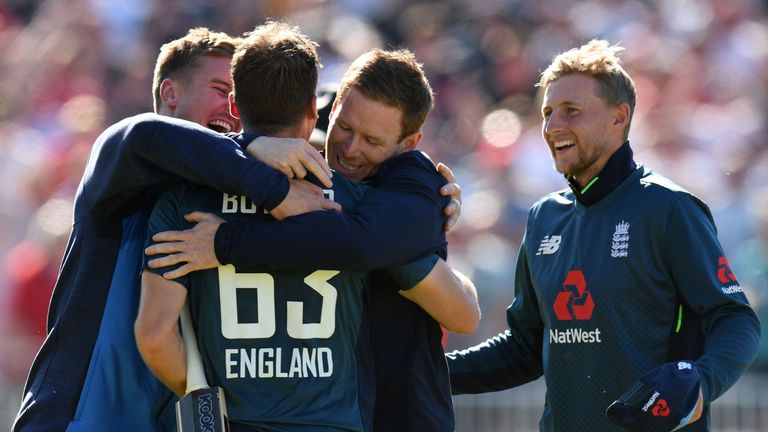 Jos Buttler's match-winning century sealed a 5-0 series win for the hosts in Australia's last white-ball series in England