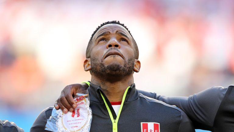 Jefferson Farfan has featured in Peru's opening two World Cup matches