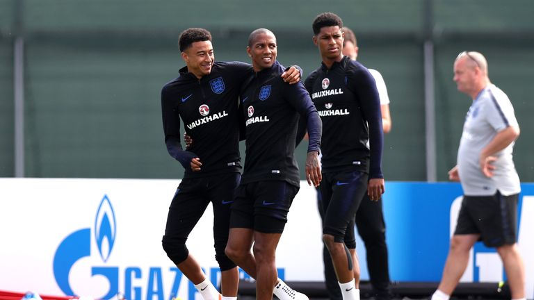 Ashley Young and Jesse Lingard are set to start for England against Tunisia
