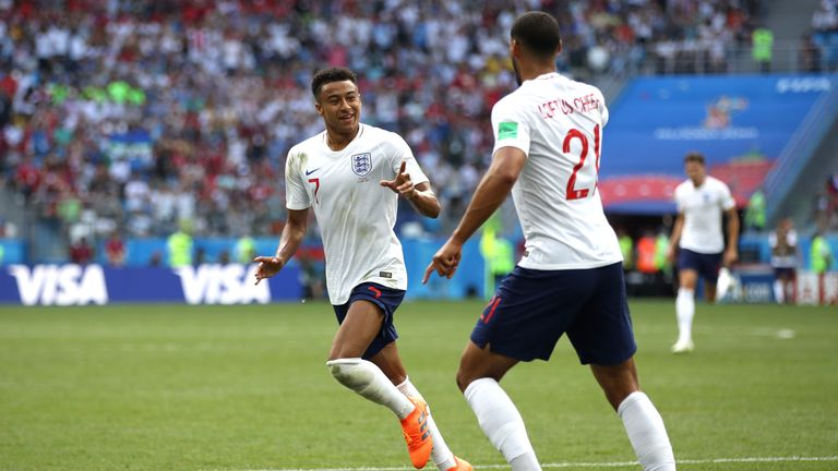 Jesse Lingard scored in the 6-1 win over Panama
