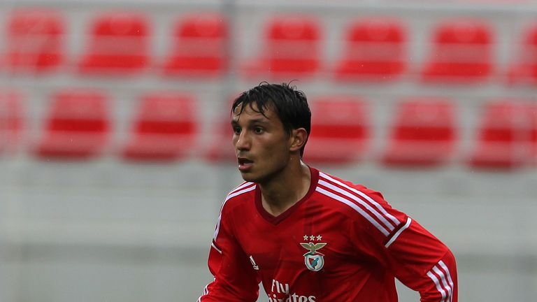 Joao Carvalho in action for Benfica Youth