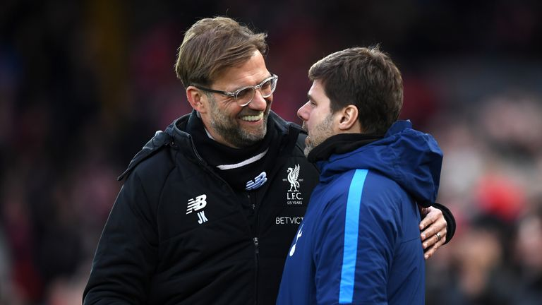 during the Premier League match between Liverpool and Tottenham Hotspur at Anfield on February 4, 2018 in Liverpool, England.