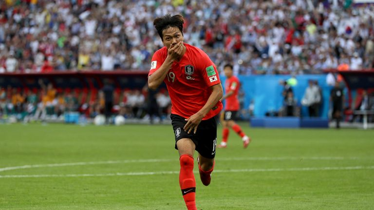 Kim Young-gwon scored to leave Germany on the brink of elimination
