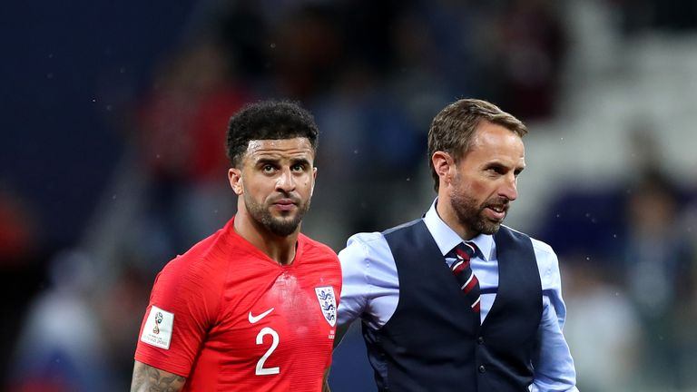 Gareth Southgate opted to play Walker as a right centre-half during the World Cup