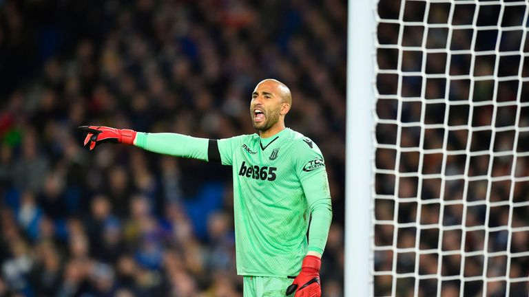 Manchester United are in talks with Stoke over a possible deal for Lee Grant