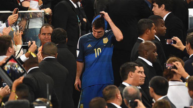 Durante el partido final de la Copa Mundial de la FIFA Brasil 2014 ™ entre Alemania y Argentina en Maracaná el 13 de julio de 2014 en Río de Janeiro, Brasil.