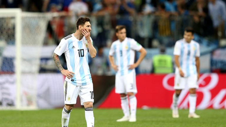 Lionel Messi and his team-mates reflect on the 3-0 defeat to Croatia