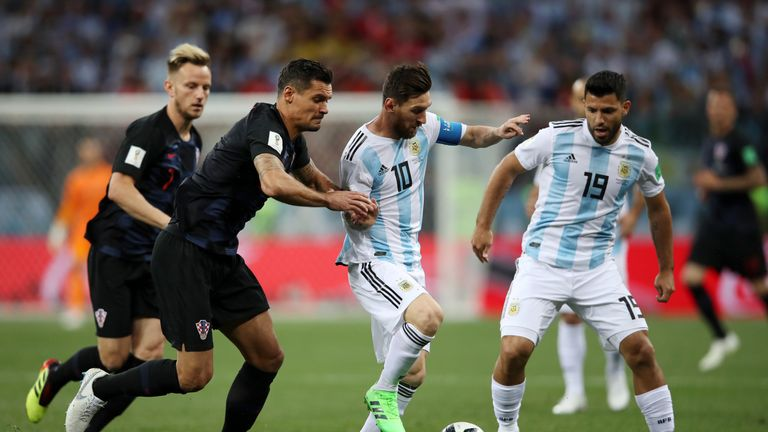 during the 2018 FIFA World Cup Russia group D match between Argentina and Croatia at Nizhny Novgorod Stadium on June 21, 2018 in Nizhny Novgorod, Russia.