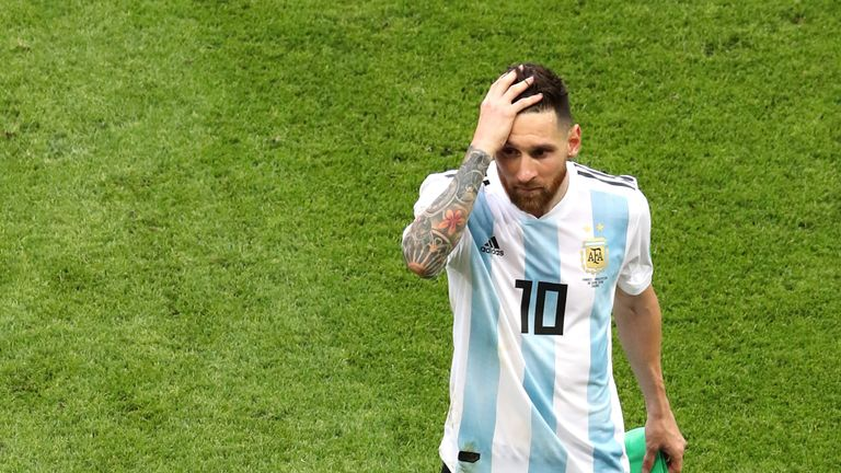 Lionel Messi trudges off as Argentina are eliminated