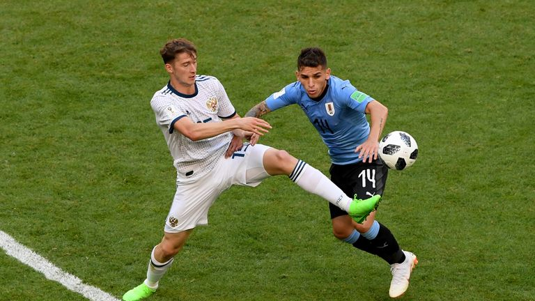 Lucas Torreira played the full 90 minutes against Russia
