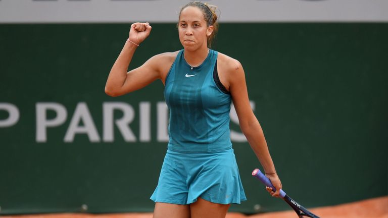 Madison Keys reached the fourth round at Roland Garros for the second time in three years