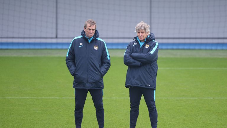 Manuel Pellegrini (right) and Ruben Cousillas previously worked together at Manchester City