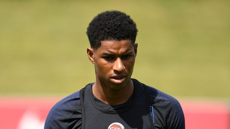 Marcus Rashford will train with the rest of England's squad on Friday