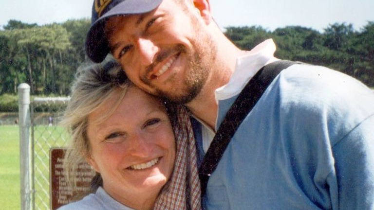 The tournament is named after 9/11 hero and former rugby player Mark Bingham, pictured with his mother, Alice Hoagland