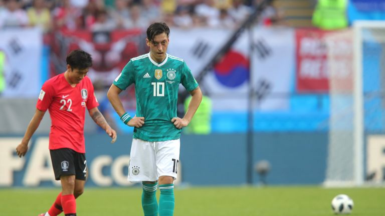 Mesut Ozil only made two appearances at the World Cup