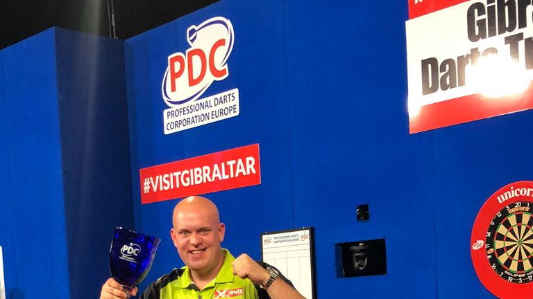 Michael van Gerwen's darting domination continued on the European Tour at the weekend