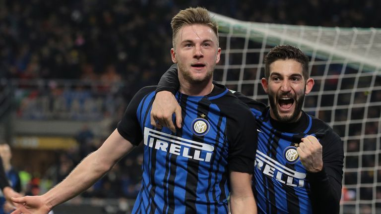 Inter Milan defender Milan Skriniar has been linked with Manchester United