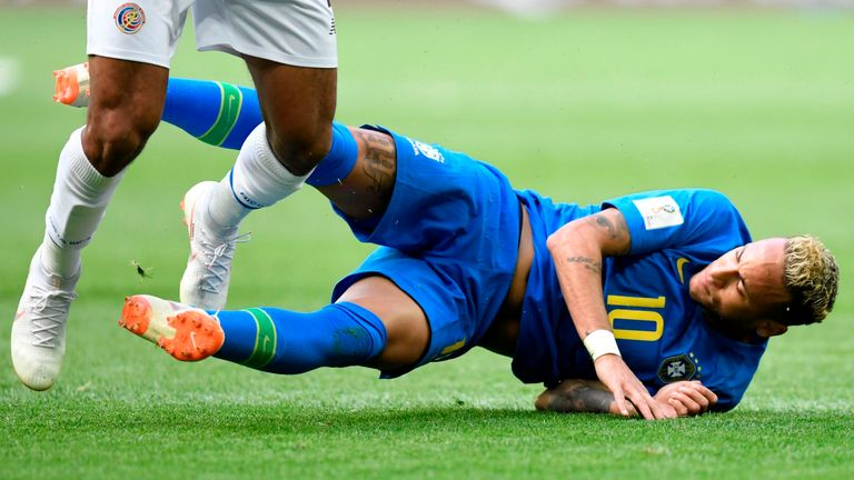 Neymar was on the end of some rough treatment on Friday