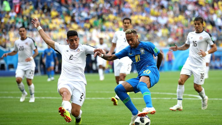 Neymar was the focal point of Brazil's attack