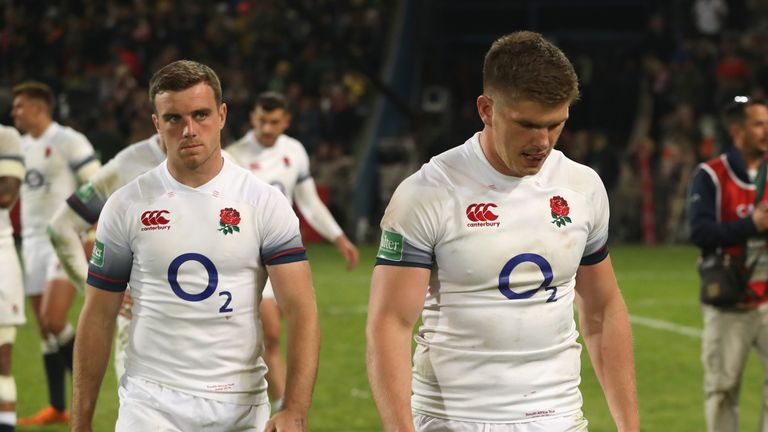 Will Eddie Jones persist with George Ford (left) and Owen Farrell (right) as dual playmakers?