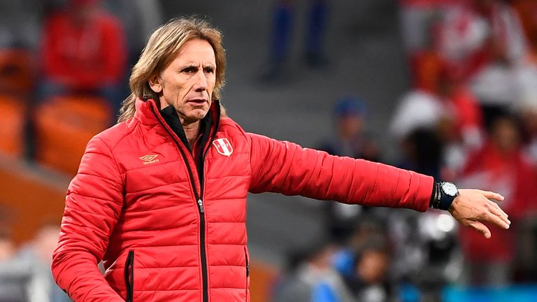 Peru manager Ricardo Gareca has apologised for his team's exit from the World Cup