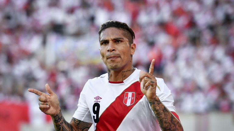 Peru's Paolo Guerrero will feature in Russia after his ban was lifted