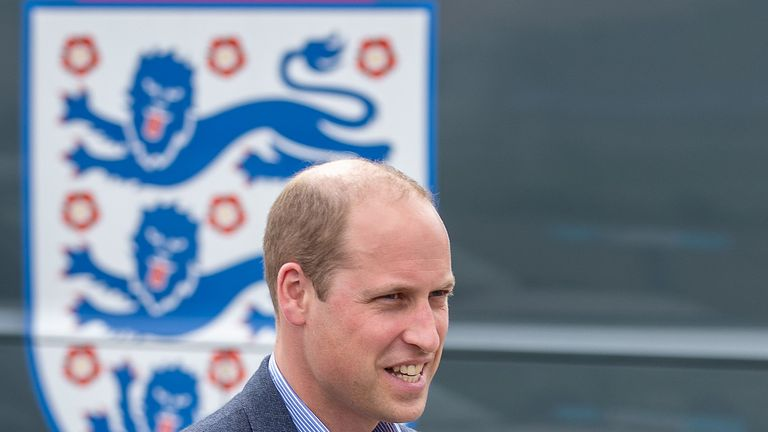 Prince William met the England squad on Thursday