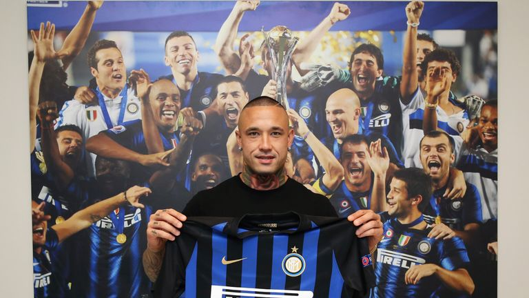 Radja Nainggolan has joined Inter from Roma