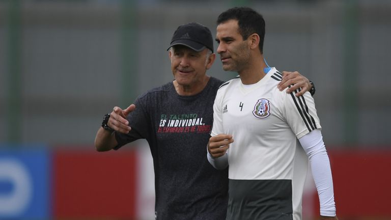 301e2dedd Mexico s Rafael Marquez does not wear American sponsors after being ...