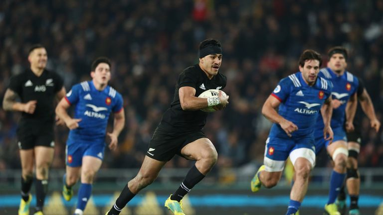 Rieko Ioane scored a hat-trick for the All Blacks against France
