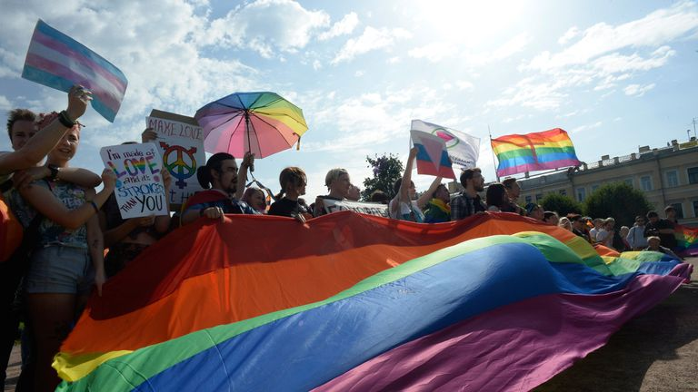 Cunningham and White have received many messages of support from people in Russia, including from those who do not identify as LGBT