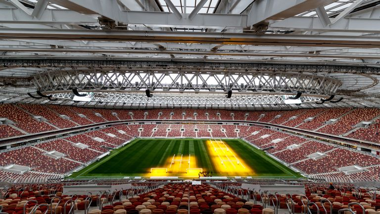 The Luzhniki Staidum in Moscow will host seven matches at this summer's World Cup including the final on July 15