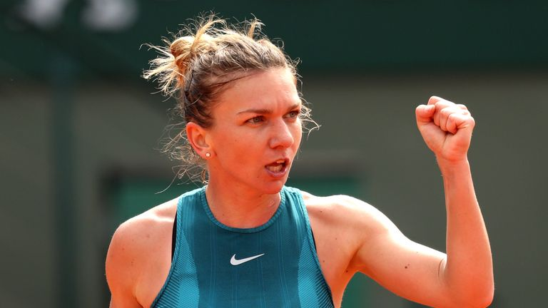 Halep produced aggressive tennis throughout the encounter