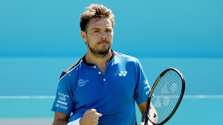 Wawrinka kicked off his Wimbledon preparations with an easy first-round win