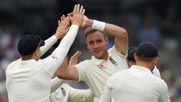 Stuart Broad has moved up to joint 11th in the all-time Test wicket-takers list