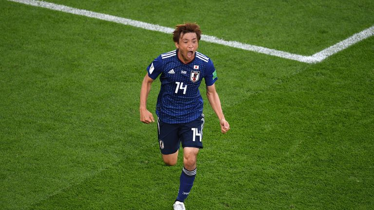 Inui scored his first competitive goal for Japan and was a post's width away from a second