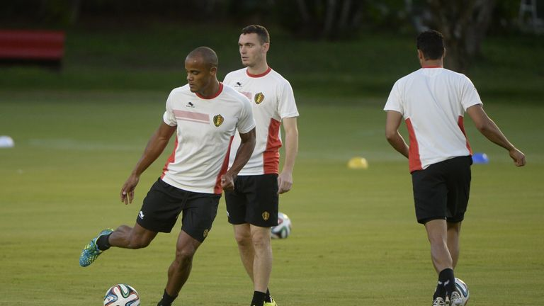 Vincent Kompany (L) and Thomas Vermaelen are battling injuries and are expected to miss the Panama game