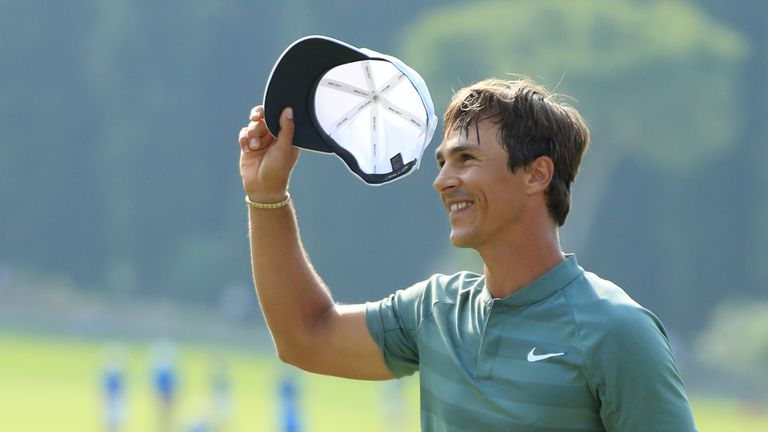 Thorbjorn Olesen held his nerve to hole a seven-foot putt for the win