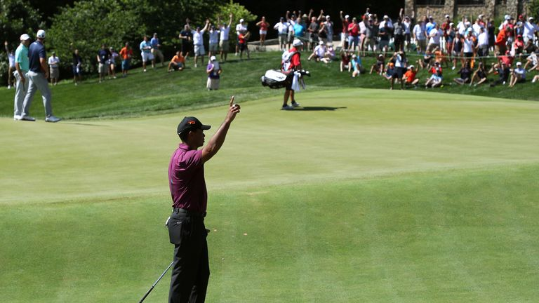 tiger woods just four off the lead after superb 65 at tpc