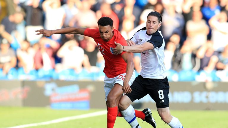 Trent Alexander-Arnold made his England debut against Costa Rica