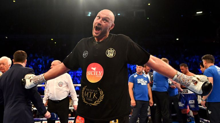 Tyson Fury made a winning return to action on Saturday night