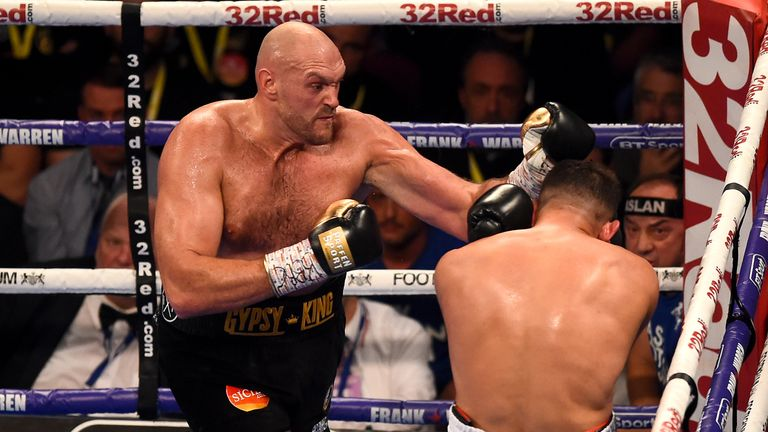 Tyson Fury returned with a stoppage victory in Manchester on June 9