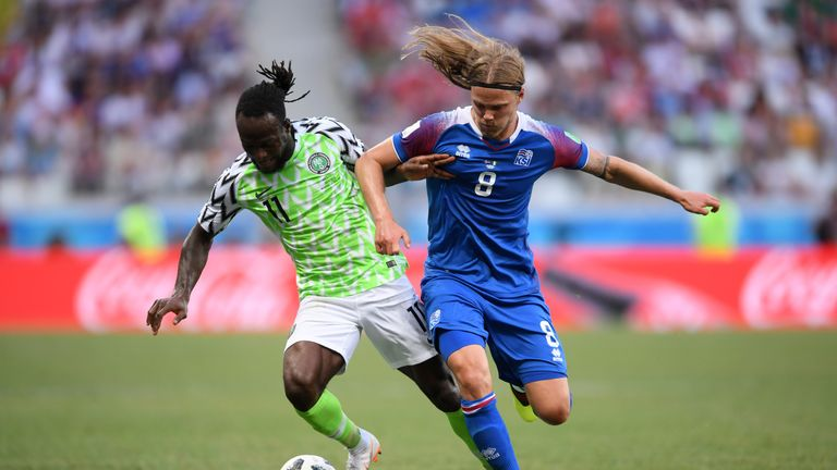 The 27-year-old scored 12 goals in 37 appearances for the Super Eagles