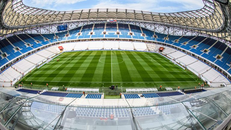 The Volgograd Arena, where England open their World Cup campaign against Tunisia