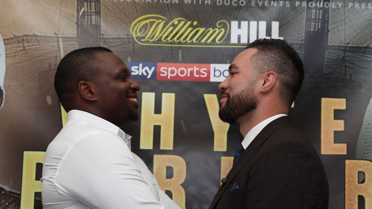 Dillian Whyte and Joseph Parker went face-to-face for the first time