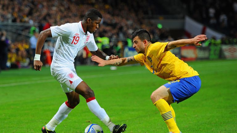 The Palace winger played in England friendlies against Sweden and Scotland