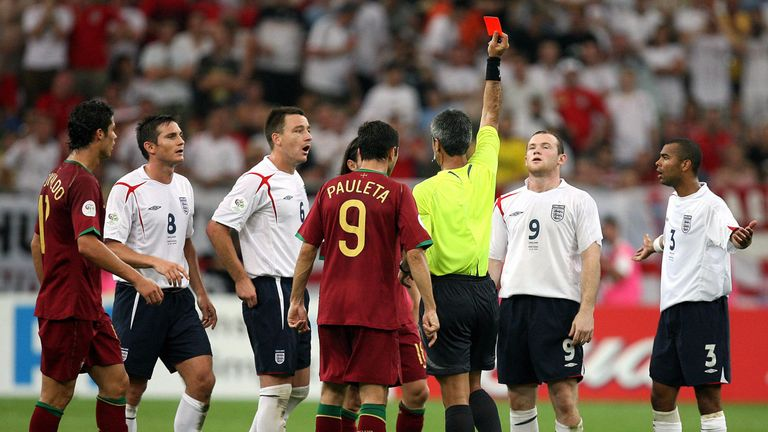 Wayne Rooney sees red against Portugal