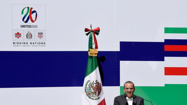 The United States, Mexico and Canada announced a joint bid to stage the 2026 World Cup on Monday, aiming to become the first three-way co-hosts in the history of FIFA's showpiece tournament.