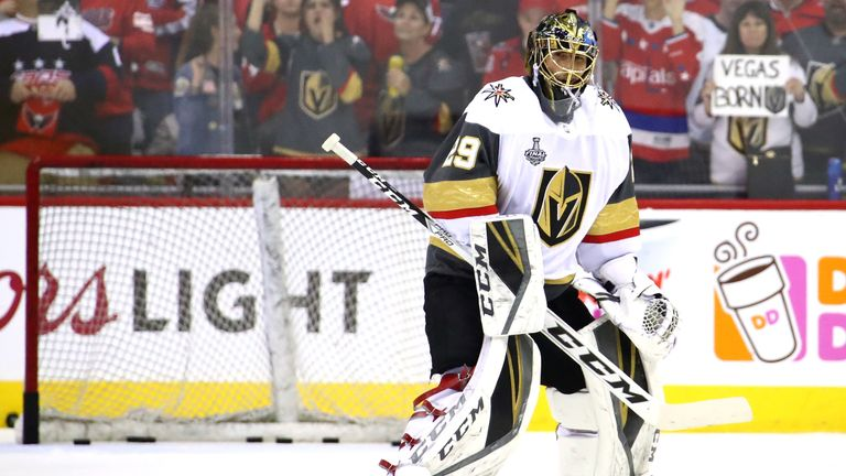 Marc-Andre Fleury conceded six as the Golden Knights saw their chances of winning the Stanley Cup in their inaugural season slip further out of reach