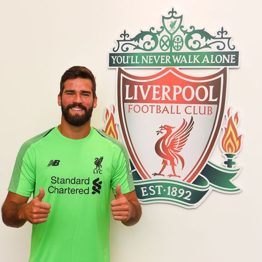 Liverpool sign Alisson in record deal